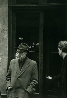 William S. Burroughs outside the Beat Hotel, Paris  9